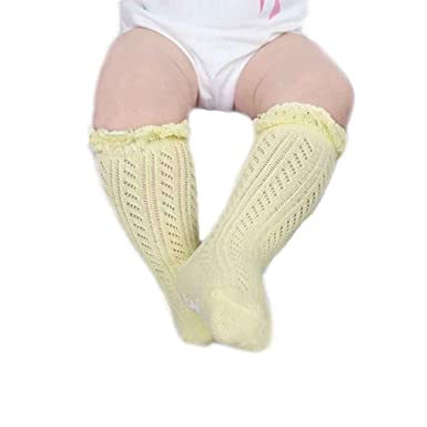 fae5ab7b55c Amazon.com  Mesh Kids Knee High Socks Infant Baby Hollow Out Socks Cotton  Summer Thin Socks  Clothing