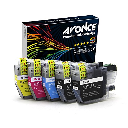 Avonce 5 pack Compatible Ink Cartridges for brother lc3017 for Brother LC3017 LC3019 for Brother MFC-J6930DW J5330DW J6530DW J6730DW by AVONCE