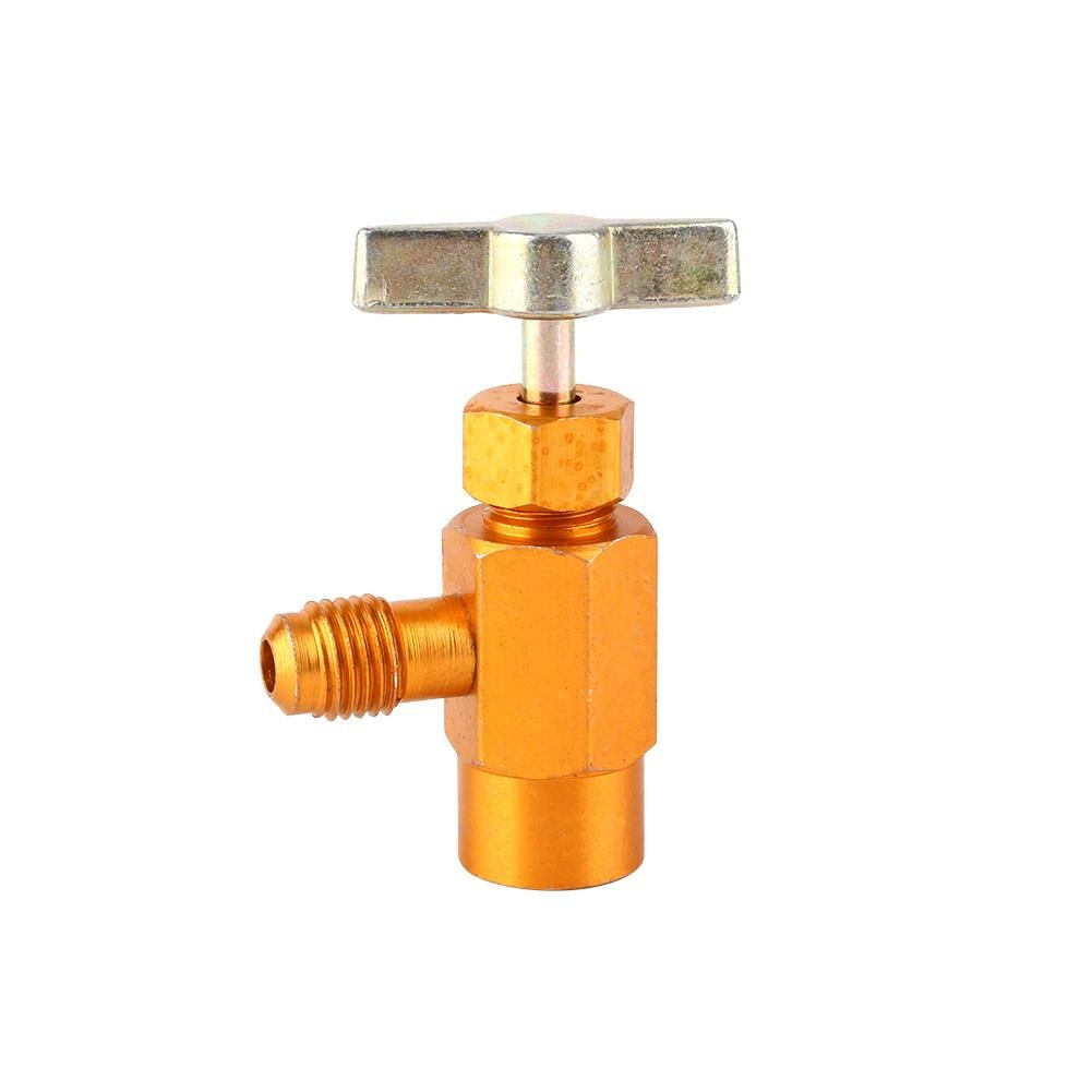 Can Dispensing for Auto R-134a R-134 AC Refrigerant Tap 1/2' Acme Thread Bottle Opener Valve Tool Yosoo®