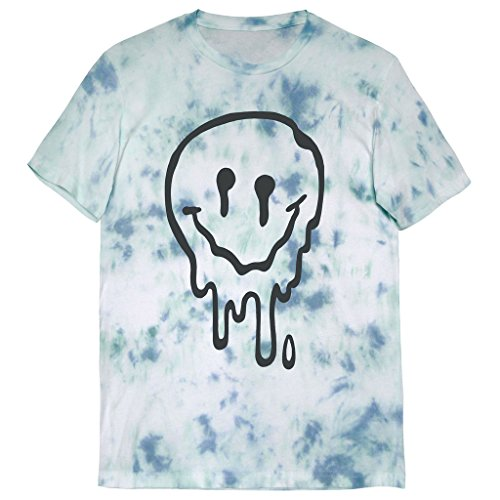 Killer Condo Melted Smiley Face Pastel Unisex Tie Dye T-Shirt Large
