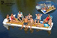 Island Hopper Patio Dock 15 Foot Inflatable Swimming Water Platform