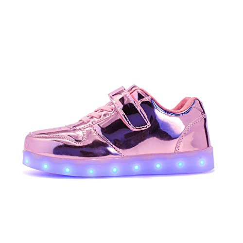 ByBetty zapatillas luces niños Niñas 7 Color USB Carga Deportivas De Luces Zapatillas Led: Amazon.es: Zapatos y complementos