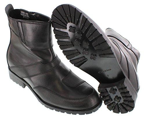 CALTO G6251-8,38 (3,3)-Tappetto cm, altezza aumentare ascensore Shoes-Stivaletto da donna alla caviglia con zip, colore: nero)
