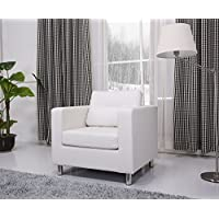 Gold Sparrow Detroit Arm Chair, White
