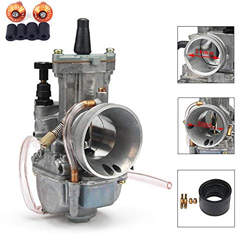 JFG RACING 34MM OEM OKO PWK Power Jet Carburetor Carb Universal For Racing ATV Quad Go Kart Dirt Pit Bike Motorcycle ()