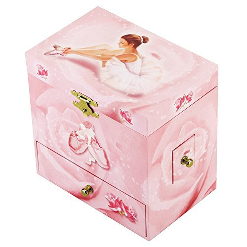 Round Rich Musical Jewelry box - Musical Storage Box a twirling ballerina figurine - Swan lake Tune by Round Rich (Image #2)