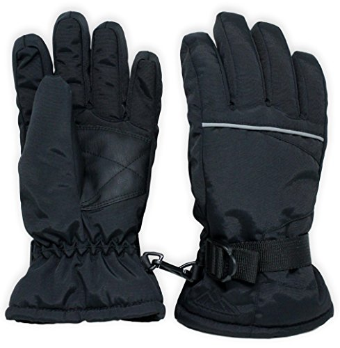Kids Winter Snow & Ski Gloves - Youth Gloves Designed for Skiing, Snowboarding, Shoveling - Waterproof, Windproof Thermal Shell & Synthetic Leather Palm - Fits Toddlers, Junior Boys and - In Junior California Stores