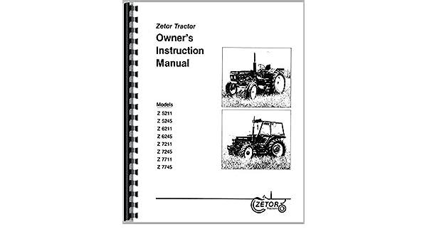 Zetor 6211 Tractor Operators Manual: Misc  Tractors Manuals