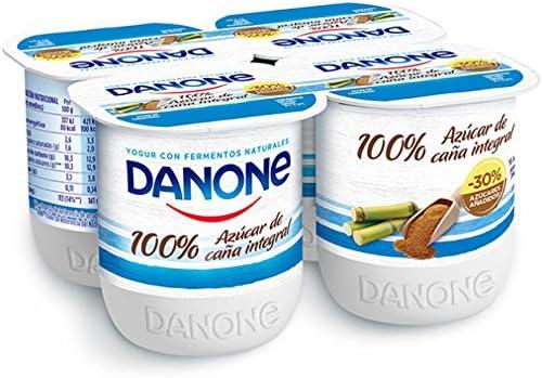 Danone Yogur Cremoso Natural con Azúcar de Caña con Fermentos ...