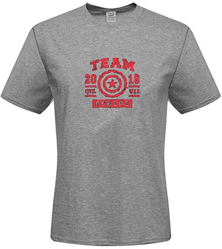 Steve KVKu Men's T-shirts - DIY Captain America T-shirts,(White XXX-Large) (Diy Captain America Shirt)