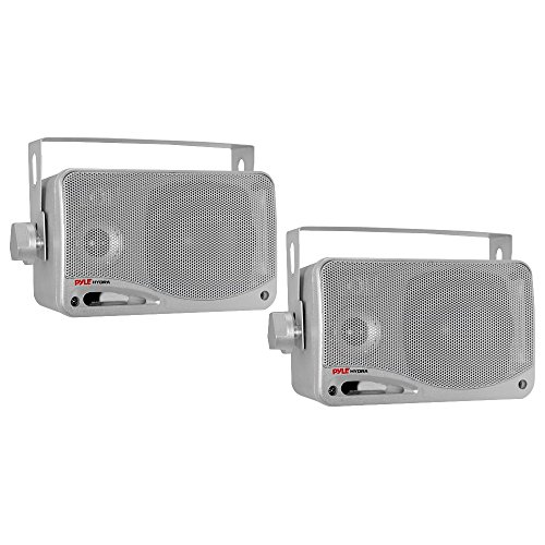 - Pyle PLMR24S 100 W RMS - 200 W PMPO Speaker - 3-way - 2 Pack - Silver - 70 Hz to 21 kHz - 4 Ohm