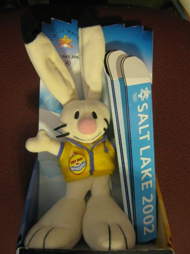 Salt Lake 2002 Poseable Mascott: Powder the Bunny