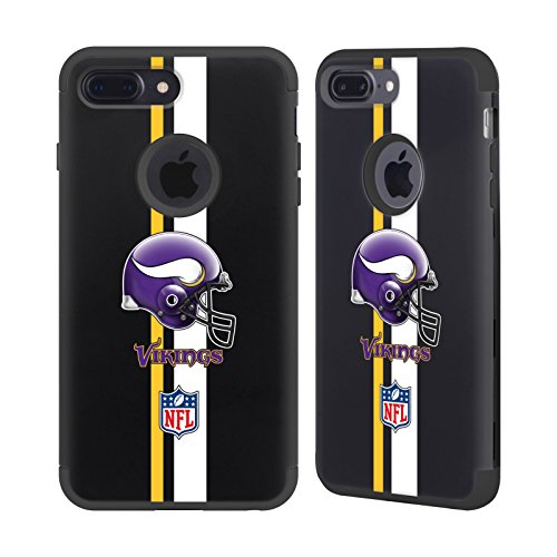 - Official NFL Helmet Minnesota Vikings Logo 2 Black Guardian Case for iPhone 7 Plus/iPhone 8 Plus