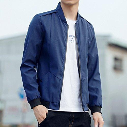 Mock Coreana Versione Xxxxl Autunno Un Camicia Sigaro Gioventù 2021 collo Dimagrimento Camicie Tinta Marea G Di Giacca Blu Uomo Della Sau Scuro Maschile Unita In Uomini Xx4q5w85Y
