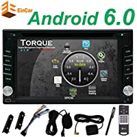 EinCar Android 6.0 Marshmallow 6.2 Inch Head Unit Double Din Car Stereo Supports GPS Navigation Car DVD Player In Dash 2 Din Car Radio Bluetooth HD Capacitive Touch screen with WiFi