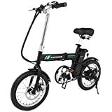 ANCHEER Folding Electric Bike, 16 Inch Collapsible Electric Commuter Bike Ebike With 36V 6Ah Lithium Battery, 250W Powerful Brushless Gear Motor