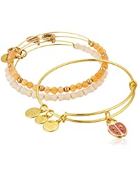 Womens Cosmic Messages - Ladybug Set of 3 Charm Bangle