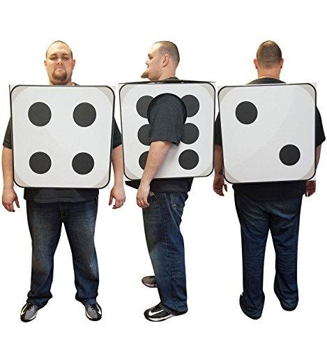 Dice Costumes (3D Dice Costume - Advanced Graphics Cardboard Costume)