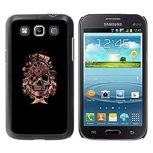 // PHONE CASE GIFT // Duro Estuche protector PC Cáscara Plástico Carcasa Funda Hard Protective Case for Samsung Galaxy Win I8550 / Bandera pirata del cráneo de /