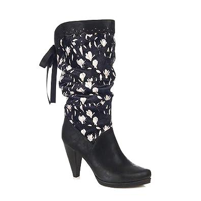 Retro Athena Shoo Floral Ruby Schuhe Damen Vintage Stiefel sthrQdC