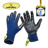 Pet Grooming Gloves - Deshedding Glove Brush & Pet Hair...