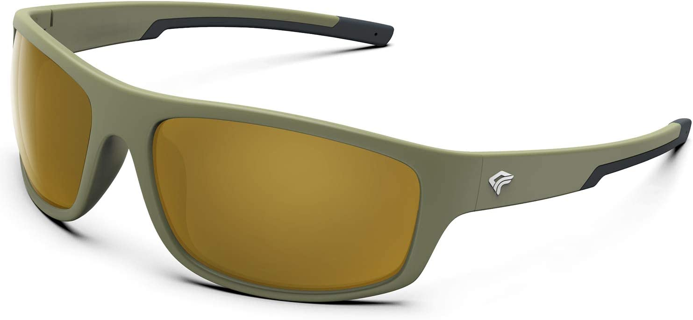 TOREGE Polarized Sports Sunglasses for Men Women Running Fishing Golf Driving Cycling Baseball Glasses UV Protection TR19