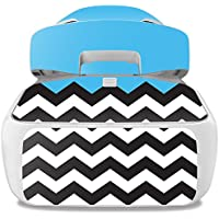 Skin For DJI Goggles – Baby Blue Chevron | MightySkins Protective, Durable, and Unique Vinyl Decal wrap cover | Easy To Apply, Remove, and Change Styles | Made in the USA