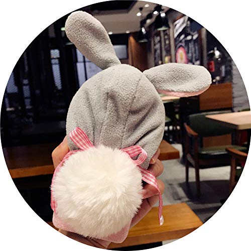 Christmas Hat Phone Case for iPhone 7 6 6s Case Lazy Rabbit Fluffy Case for iPhone X 8plus iPhone 7 7 Plus Fundas Cover,Rabbit,i8