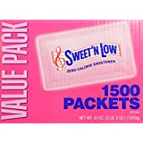 Sweet and Low Zero Calorie Sweetener 1500 Individual Serving Packets