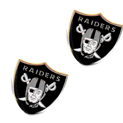 aminco Oakland Raiders Post Stud Logo Earring Set Charm -