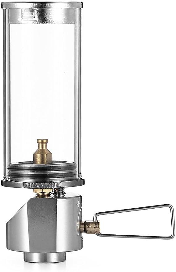 Mini lámpara portátil de gas butano para acampada al aire ...