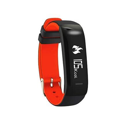QAR Pulsera Inteligente Monitor De Frecuencia Cardíaca Reloj Deportivo Podómetro Pantalla De Información del Llamador A