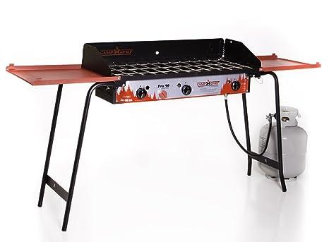 Amazon.com: Campamento Chef Pro 90 3 Quemador Estufa, Rojo ...