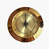 16packs Round golden cigar humidor hygrometer high sensitivity with best fit spiral hygrometer humidor