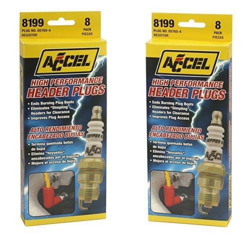 Accel 8199 U-Groove Spark Plug - Lote de 8 # 0576s: Amazon.es: Coche y moto