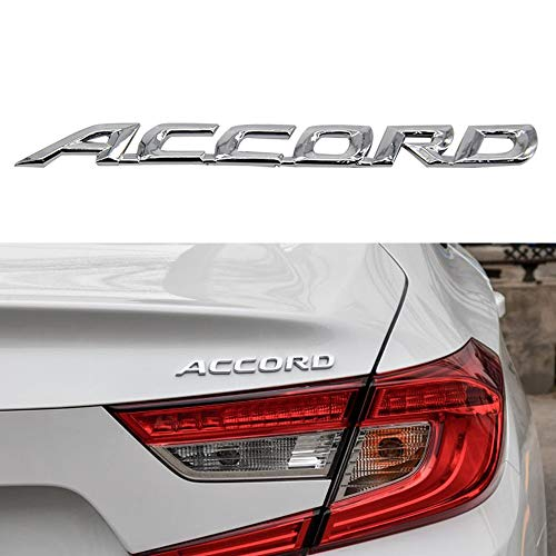 Chrome Effect and 3M Adhesuve Accord Emblem Badge Decal Sticker Nameplate Car Assessories for 1998-2007 ACCORD