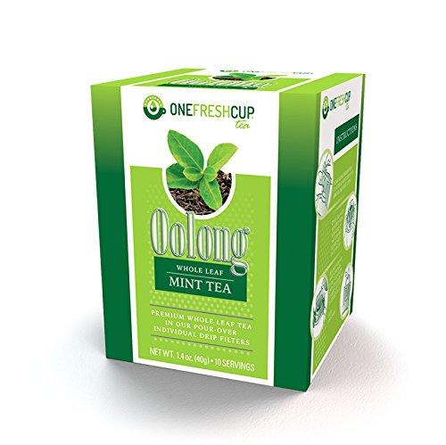 One Fresh Cup Tea - Single Serve Pour Over Drip Tea - Oolong - Whole Leaf - Mint ()