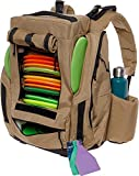 BagLane Fusion Elite Disc Golf Backpack w/Seat & Cooler- 25+ Capacity (Coyote Tan)