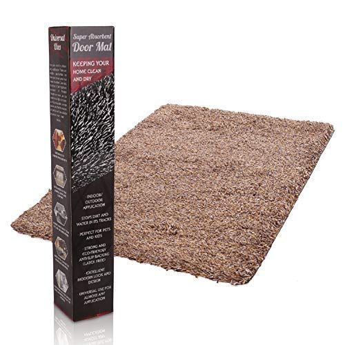 Door Mats Inside | 24x36 Super Absorbent | Indoor Door Mat | Outdoor Front Entryway Rug | Non Slip - Machine Washable - Perfect for Any Entrance, RV, Home, Office, Kitchen, Patio, Dog Paws (Brown)