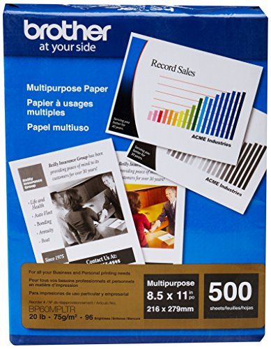 "Brother 500-Pack 8.5"" x 11"" Multipurpose Paper White BP60MPLTR"