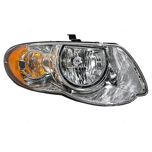 Halogen Headlight Headlamp Passenger Replacement for 05-07 Chrysler Town & Country Van with 119