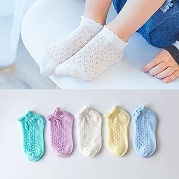XIU*RONG Calcetines Infantiles Malla Barco Invisible Calcetines Medias De Algodón Puro Para Los Niñost018Acerca