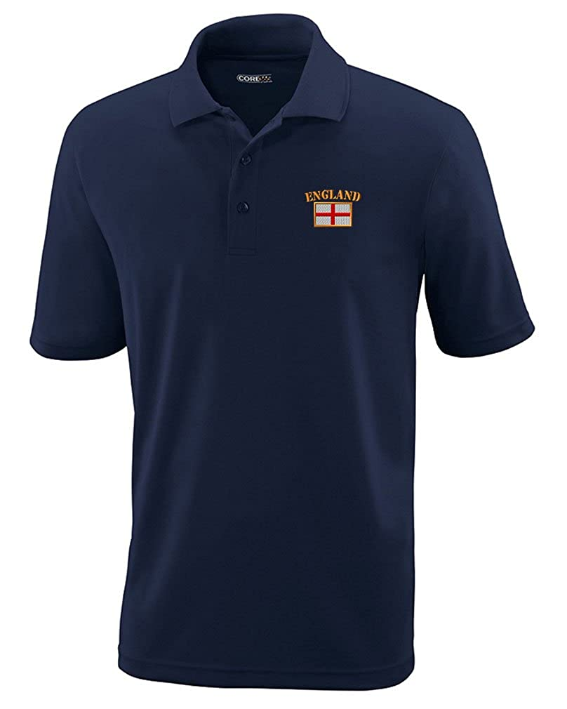 Speedy Pros England Flag Embroidery Design Polyester Performance Polo Shirt POLOPFLAGNAME044