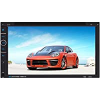 Eaglerich 6.95 Inch Touch Screen GPS 2 Din Car DVD Radio Player MP5 USB Handsfree Bluetooth FM/AM RDS Free 4G Card TV 10 Languages