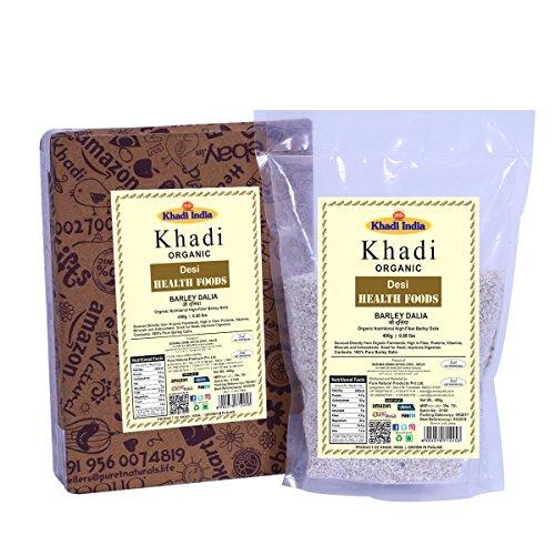 Khadi Organic Barley Dalia (Porridge) 400 GM - Natural, Healthy Organic Food Rich in Fibre by khadi bypurenaturals