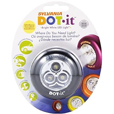 Sylvania DOT-it Self-Adhesive Bright White Black LED Light