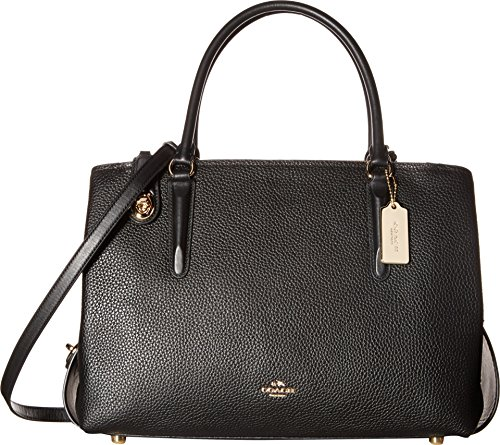 COACH Women's Pebbled Brooklyn 34 Carryall LI/Black Satchel