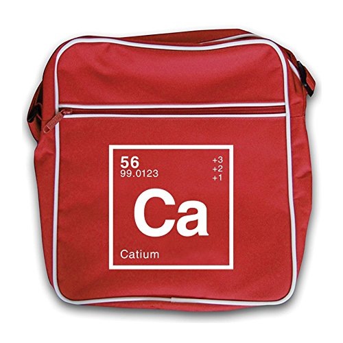 Retro Flight Cat Dressdown Red Bag Periodic Element AZTRRxwqnt