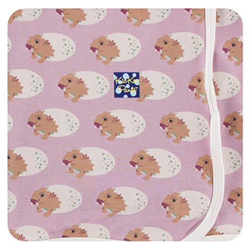 KicKee Pants Print Swaddling Blanket (One Size, Sweet Pea - Fleece Sweet Blanket Pea