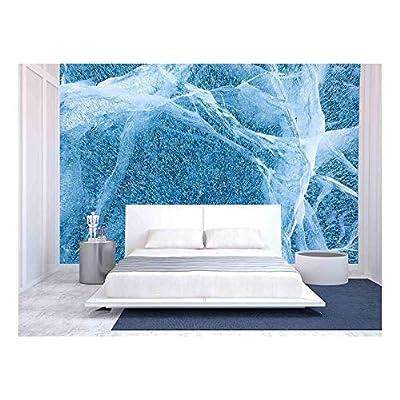 Premium Product, Fascinating Print, Texture of Ice of Baikal Lake in Siberia
